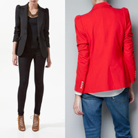 Women women business suits - 2014 new hot women blazers and jacket ladies business suit cotton and modal good quality women winter coat a