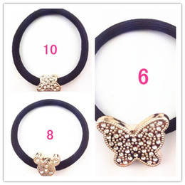 Wholesale Fashion Mix Pony Tail Holder with Beads Charm Hair Jewelry Head Band Hairband