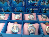 Wholesale frozen watch kids fashion quartz cartoon Jelly Candy led luxury watches with box Cute Lovely Girl woman lady