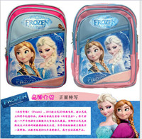 Wholesale Large size by dhl Cartoon baby girls Frozen bags zipper shoulder Frozen Pattern Elsa Anna Princess Cartoon Shoulders Backpack