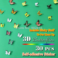 PVC baby animals list - listed in stock pack D Wall Butterflies Wall Art Nursery Baby Wedding Decor Girls Room Decoration BD1118