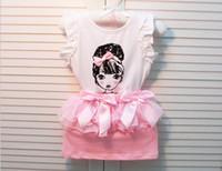 Wholesale 2 Piece Sets Children Skirt Sets Girl s Cute Princess Vest Tops Gauze Bowknot Short Skirt Kids Skirt Sets Clothes S0530
