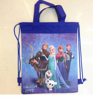 Wholesale 2014 handbags frozen ice princess woven double sided printing beam port foreign trade drawstring bag size cm cm