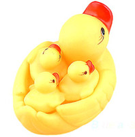 Multicolor PVC  frozen Cute Baby Girl Boy Bath Bathing Classic Toys Rubber Race Squeaky Ducks Set Yellow Sale 20 pcs alot