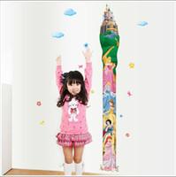 Compra El crecimiento en altura los niños-Extraíble habitación castillo de la princesa de la muchacha Crecimiento Altura de la torre etiqueta de la pared Gráfico de muchachas / niños / niños dormitorio Imagen de pared, dos hojas