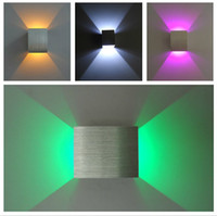 Wholesale Hi Q Ultra Low Up and down led wall light x3W AC85 V wall led spot light recessed in ceiling wall lamps home decoration