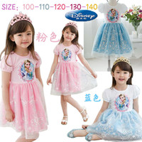 Summer New Children Girls Dressing Frozen Elsa Anna Cartoon ...