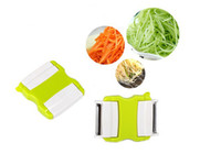 Wholesale 2PCS Metal Cutting Blade Grater Stainless Steel plastic Potato Vegetable silk Kitchen