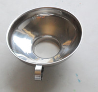 Wholesale Stainless Steel Canning Jar Wide Mouth Funnel with Handle Kitchen Tool