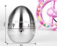 Wholesale 1PCS New Stainless steel Cute Egg shape mini timer kitchen helper family must E593