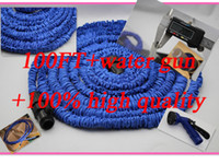 Wholesale 100Pcs FT Garden water Hose expandable flexible hose Garden hose with Spary Gun S09