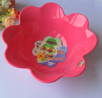 Wholesale 1pcs Color food grade plastic Flower shape fruit plate fruit salad Serving Bowl