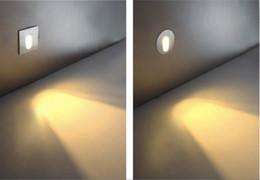 Wholesale Aluminium LED Stair light W Aluminum COOL Warm white AC85 V Square round Wall Cornor Lamp Stairway Night Lights
