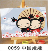 One Panel Oil Painting Fashion Wholesale Handicraft Handmade Digital Oil Painting Chinese doll.To Appreciate The Art of Top Furniture And The Most Valuable Gift!