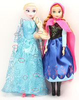 Girls 5-7 Years PVC 8%off!2014 hot sale!Elsa.Anna doll!12 joint moving!Cartoon toys!Two dolls in a box!elsa Anna!DROP SHIPPING!high quality!1set 2pcs.ZF