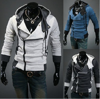 Cardigan cardigan hooded - Fall and winter clothes men s hooded outerwear Men s cardigan hoodies Slim Men hooded outerwear colors M XL
