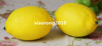 Wholesale NEW cm Artificial Fruits Vegetables Simulation Green Yellow Lemon Model Toy Decorations Wedding Shoot Props Home Decoration