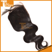 Wholesale Best Discount A Peruvian Human Remy Hair Free Part Bleached Knots Lace Closure inch Length Body Wave Virgin Hair
