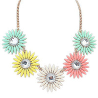 Beaded Necklaces Women's Fashion 2014 New High Quality Women Luxury Costume Flower Chain Statement Necklaces & Pendants Choker Necklace For Women Men Jewelry