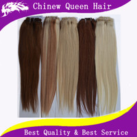 Wholesale 100 Brazilian Virgin Hair Straight Clip In Hair Extension inch Remy Human Hair Queen Hair Products DHL