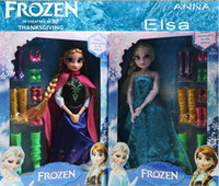 Wholesale 9 off in stock high grade Frozen Anna Elsa barbie doll mobile adventures in frozen sisters boxes of toys drop shipping hot sale ZF