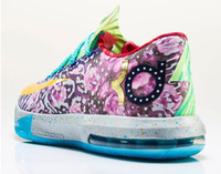 Low Cut Men Summer KD6 What The KD Basketball Shoes men athletic shoes