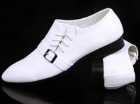 Wholesale Designer new white leather buckles lace up cusp dress shoes men s casual shoes groom wedding shoes liqinghui2011
