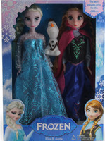 Wholesale 8 off hot sale Ice snow big adventure Doll toys Anna elsa Olaf doll in a box Clothes randomly frozen elsa Anna DROP SHIPPING set ZF