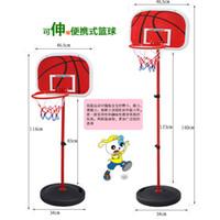 Plastic Lift Chenghai Outdoor hardcore iron frame shooting baskets indoor basketball hoop basketball can lift large children's toy shelf Basketball