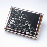 Bamboo Bedding Eco Friendly Personalized cigarette case skull male 20 band lighter ultra-thin automatic clamp gift