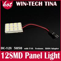 Wholesale T10 Ba9s Festoon smd led reading dome panel Light Car Interior Reading light white V