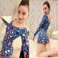 Wholesale 2014 Winter new fashion dresses Nightclub Personality colors leopard sexy women dress MMJ859