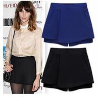 Wholesale 2014 new arrive women s pants Irregular skirt pendulum women pants CASUAL short pants blue