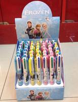 Wholesale 2015 children pen color pen Frozen Anna and Elsa pen Hot Romance ballpoint snow box Best price Mix color