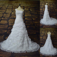 Wholesale Latest Design A line Organza One Shoulder Tiered Skirt Chinese Wedding Dresses Graden Bridal Gown