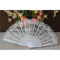 Wholesale Folding Hand Lace Fan Bronzing Pattern Plastic Dancing Fan Chinese Folk Arts Fan Costume Party Wedding Fan YHLSS01b