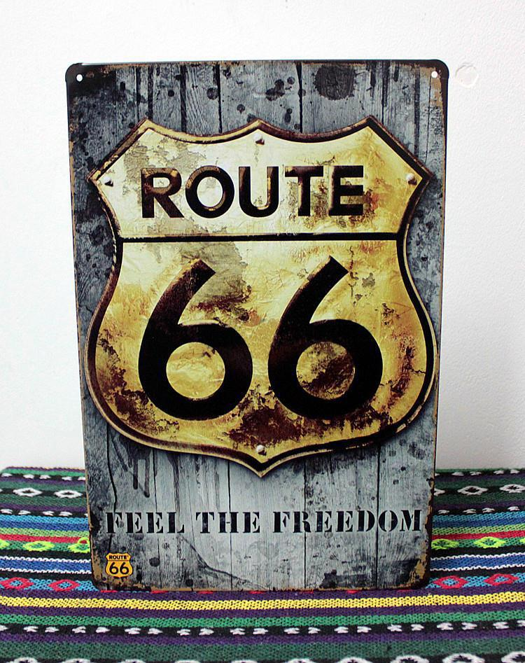online cheap vintage tin signs route 66 home decor house office restaurant bar iron paintings k 05 2030cm by facebook58 dhgatecom - Metal Signs Home Decor