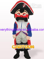 Mascot Costumes Unisex Costum Made Hot Sale Mascot Costume Red Face Pirate Adult Size Fancy Dress Suit Costumes Free Shipping
