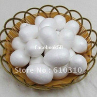 Wholesale Free shiping cm natural white styrofoam egg shape balls for DIY and nylon stocking flower accessories