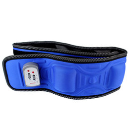 Wholesale Brand New V PANGAO PG D1 Electric Massage Fitness Massage Beauty Care Slimming Health Waist Losing Weight Belt Blue Y4203L