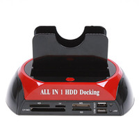 Wholesale All in One quot quot SATA IDE HDD Dual Dock Hard Drive Dock Docking Station e SATA Hub