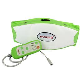 Wholesale Brand New PANGAO PG G2 High Performance Oscillating Massage Slimming Belt CE Super Motor Vibrating Heating Green Y4204G