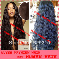 Wholesale High quality stock long body wave unprocessed brazilian virgin hair wigs glueless full lace human hair wigs