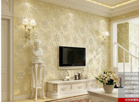 Wholesale Ou non woven wallpaper relief ultra thick three dimensional d wallpaper bedroom living room TV setting wall