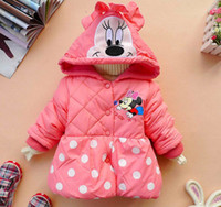Coat Girl Winter 4pcs lot hot selling girl's polka dots cartoon coat winter hoody outwear free shipping ZZ0772