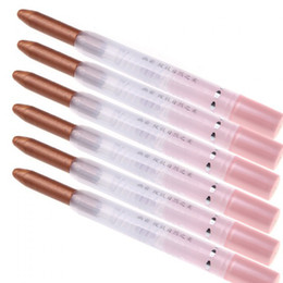 Wholesale High quality in Double Functions Lipstick Eye Shadow Pencil Brown Crystal Bright Pack so packs Dropshipping