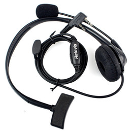 10pcs Retevis 2 PIN PTT Mic Headphone Headset For Radio QUANSHENG PUXING WOUXUN HYT TYT TH BAOFENG UV5R 888S C9009A
