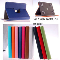 Wholesale 10 Colors degree Rotating Stand inch tablet PC Leather Cover PU Leather Case for For Ebook Apad Tablet PC Laptop inch Cover Case