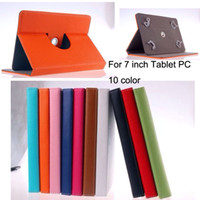 Wholesale 10 Colors degree Rotating Stand inch tablet PC Leather Cover PU Leather Case for For Ebook Apad Tablet PC Laptop inch Cover Case DHL