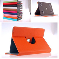 Wholesale 10 Colors degree Rotating Stand inch tablet PC Leather Cover PU Leather Case for For Ebook Apad Tablet PC Laptop with stand fuction